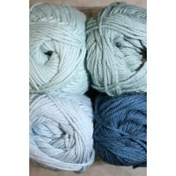 Blend Hjerte Bomuld/acryl garn støvet blå-grå blå-20