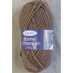 Bonnie Mützengarn uld/akryl i pudder-brun P.6-20
