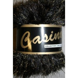 Casino Pelsgarn m/lurex, sort/guld-20