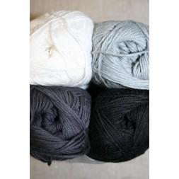Bomuldsgarn Cotton 8 i hvid grå og sort