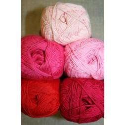 Bomuldsgarn Cotton 8 i lyserød og pink