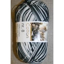 Cotton nr. 8 Print, sort/grå/hvid-20