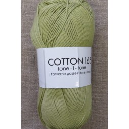 Bomuldsgarn Cotton 165 tone-i-tone i lys oliven-20