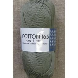 Bomuldsgarn Cotton 165 tone-i-tone i grå-grøn-20