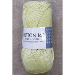 Bomuldsgarn Cotton 165 tone-i-tone i lys lime-gul-20