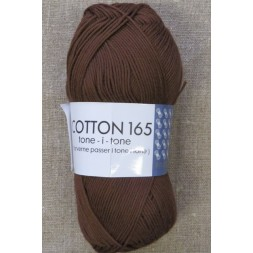 Bomuldsgarn Cotton 165 tone-i-tone i brun-20