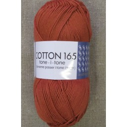 Bomuldsgarn Cotton 165 tone-i-tone i lys brændt orange-20