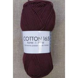 Bomuldsgarn Cotton 165 tone-i-tone i vinrød-20
