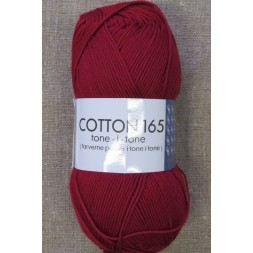 Bomuldsgarn Cotton 165 tone-i-tone i mørk rød-20