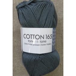 Bomuldsgarn Cotton 165 tone-i-tone i mørk grå-20