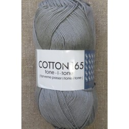 Bomuldsgarn Cotton 165 tone-i-tone i lys grå-20