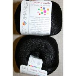 Garn Cotton Twinkle bomuld/viskose i sort-20