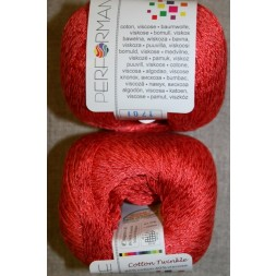 Garn Cotton Twinkle bomuld/viskose i koral-20