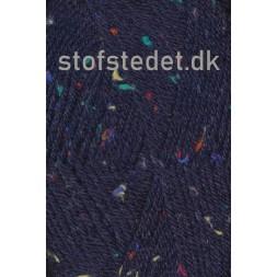 Deco mørkeblå med farvede nister | Hjertegarn-20