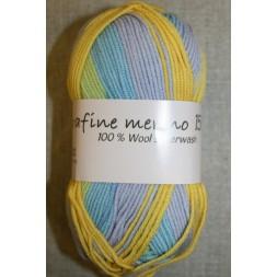 Extrafine Merino 150 print gul/lyseblå-20