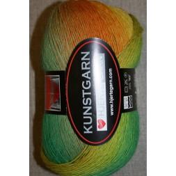 Hjerte Kunstgarn, græsgrøn/gul/orange-20