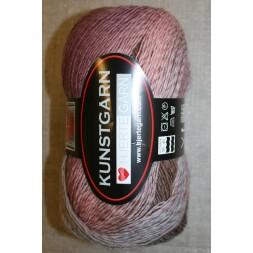 Hjerte Kunstgarn, rosa/lyng/lysegrå-20