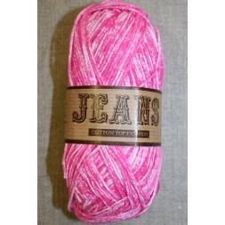 Jeans meleret bomuldsgarn, pink-20
