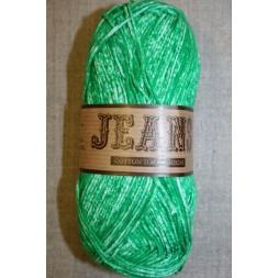 Jeans meleret bomuldsgarn, græsgrøn-20