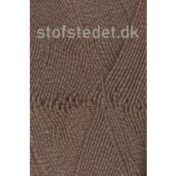 Lana Cotton 212 Uld-bomuld i meleret mørkebrun-20