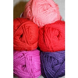 Hjertegarn Merino Cotton rød/pink/lilla-20