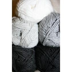 Hjertegarn Merino Cotton grå/sort/hvid-20