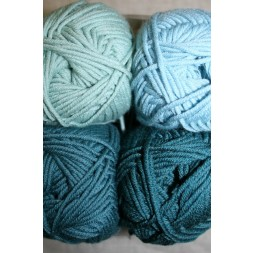 Hjertegarn Merino Cotton petrol-grøn/aqua-20
