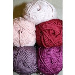 Hjertegarn Merino Cotton pudder-rosa/lyng/bordeaux-20