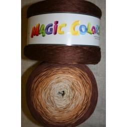 Magic Colors bomuld/acryl brun/lysebrun/sand-20