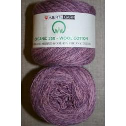 Organic 350 Wool/Cotton Gots certificeret meleret rosa-20