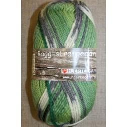 Ragg strømpegarn i lysegrøn, lime, grå og off-white-20