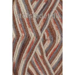 Ragg strømpegarn i brændt orange, rust-brun, lysegrå og off-white-20