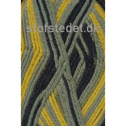 Ragg strømpegarn i sort, gul og støvet grøn-20