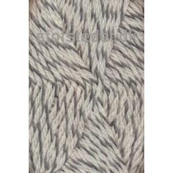 Ragg strømpegarn meleret grå og off-white-20