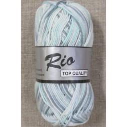 Rio mercerisered bomuld, aqua/hvid/grå-20