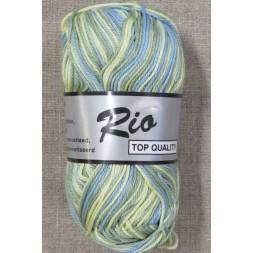 Rio mercerisered bomuld, lys gul, grøn, blå-20