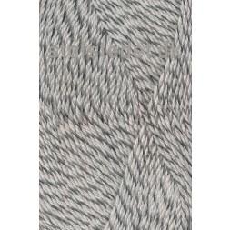 Sock 4 strømpegarn meleret knækket hvid lysegrå-20