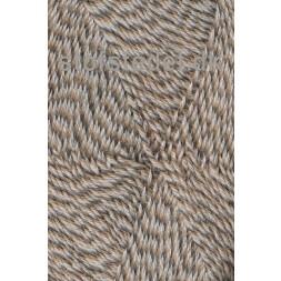 Sock 4 strømpegarn meleret lysebrun beige off-white-20