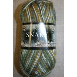 Strømpegarn Snake grøn/off-white-20