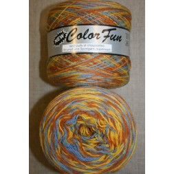 Color Fun strømpe og sportsgarn i print gul lyseblå, 950 meter-20