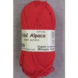 Vidal Alpaca/ Superwash Baby Alpaca i Koral-rød-20