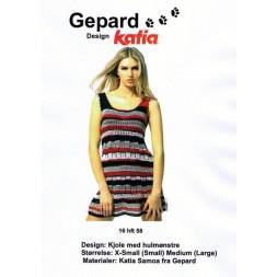 Gepard mønster kjole m/hulmønster-20