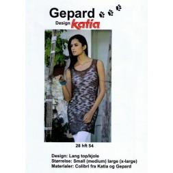 Gepard mønster Lang top/kjole-20