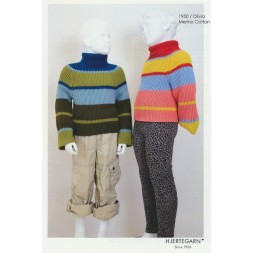 1950 Olivia Ribstrikket stribet sweater-20