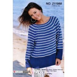 211988 Stribet sweater m/rundt bærestykke-20