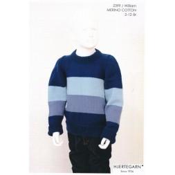 2399 William Stribet sweater i Merino Cotton str. 2-12 år.   Hjertegarn-20