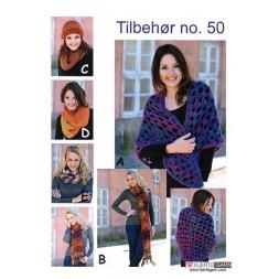 Tilbehør no. 50 Sjal/halstørklæde/hue-20