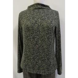 Bluse i strik med dyreprint med høj hals i Onion 5009-20