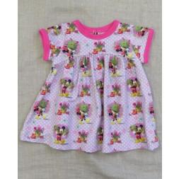 Babykjole i jersey med Minnie syet efter Minikrea 50011-20