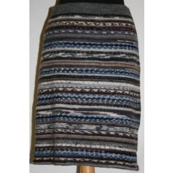 Nederdel i strømpegarns-rester brun/grå-20